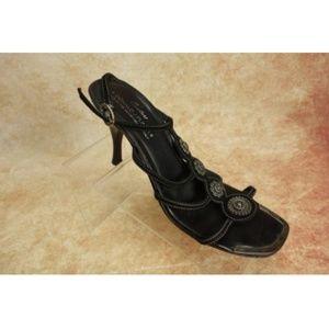 Donald J Pliner Couture Black Suede Sandals 9.5M